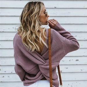 COMING SOON Purple Knot Sweater